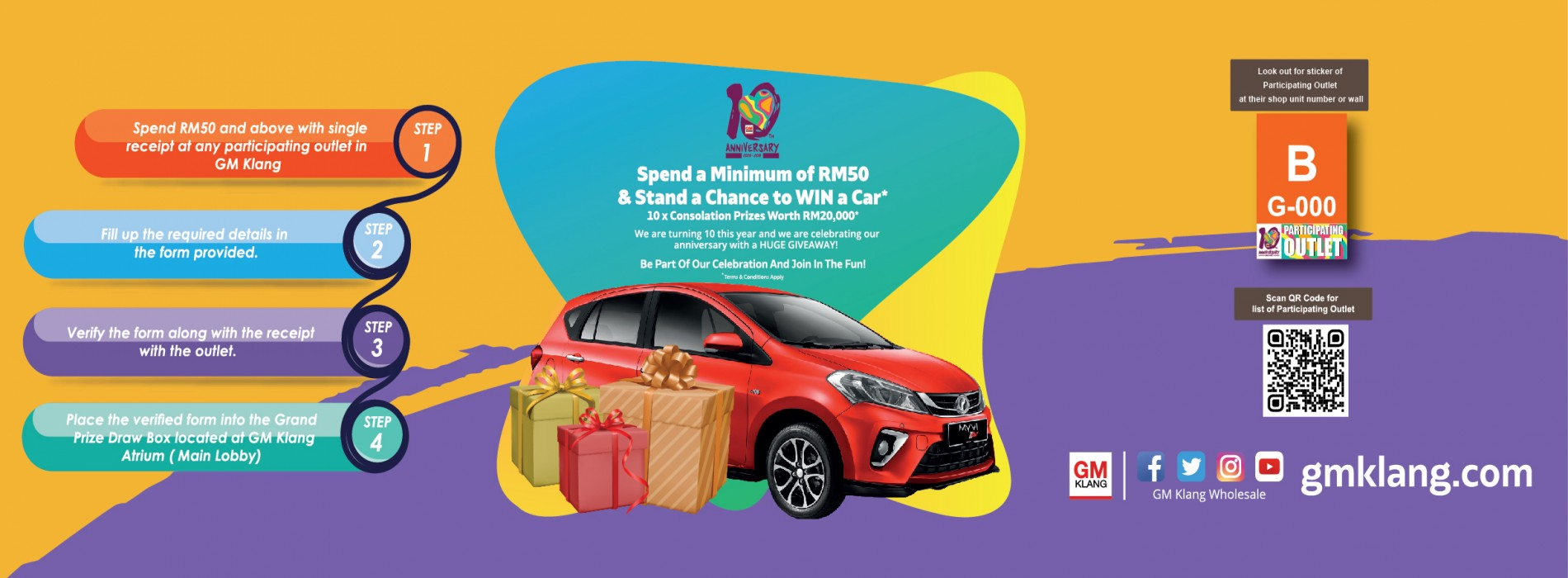GM10 Grand Prize Lucky Draw 2019