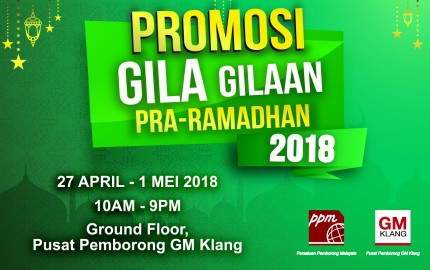 Pre-Ramadhan Crazy Promotion 2018